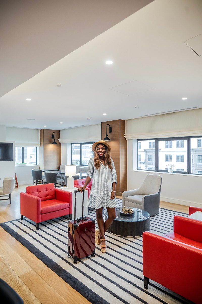 Club Lounge - A Chic Hotel in the Heart of Downtown Boston: The Westin Copley Place featured by popular DC travel blogger Alicia Tenise