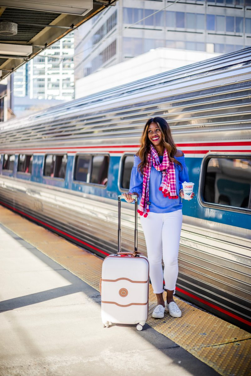 Boston Back Bay Station, Ann Taylor Pom Pom Scarf - Why It's Ok to Say No as a Blogger featured by popular DC blogger Alicia Tenise