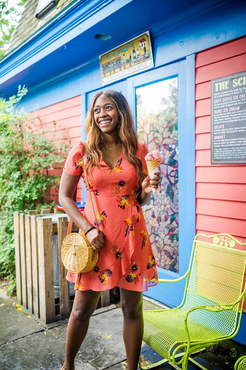 Transitional Dress from Summer to Fall - The Perfect Floral Dress to Transition from Summer to Fall featured by popular DC style blogger Alicia Tenise