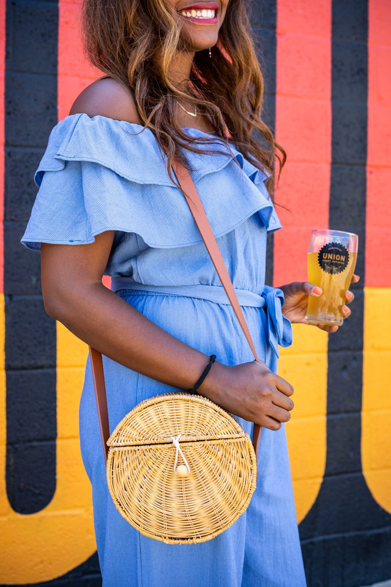 Wicker Circle Bag for Summer - What to Do When You're Feeling Deflated featured by popular DC life and style blogger Alicia Tenise