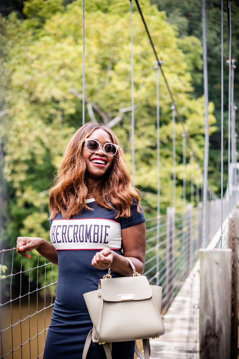 Warby Parker Cleo Sunglasses, Zac Zac Posen Eartha Bag | Pedestrian Bridge in Woodstock VA | Abercrombie | RE: Diversity Problem In The Blogging Industry featured by popular Virginia blogger Alicia Tenise