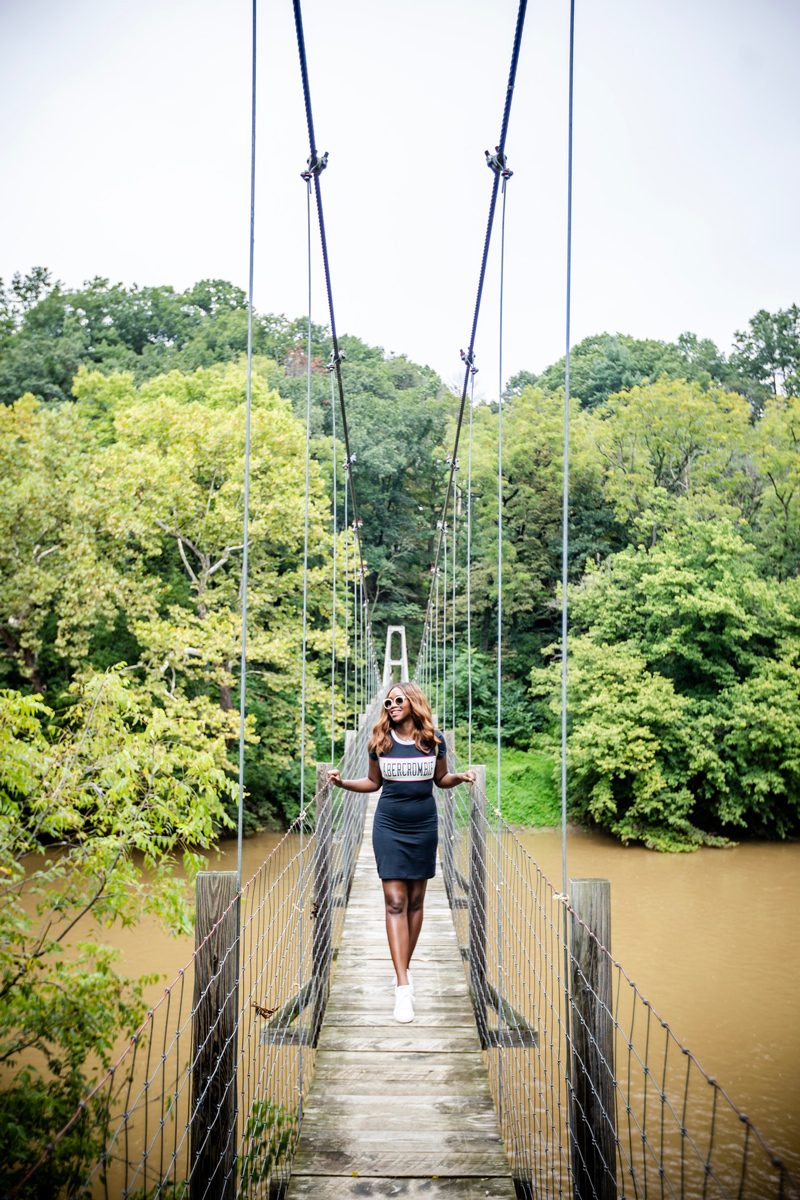 Pedestrian Bridge in Woodstock VA | Abercrombie | RE: Diversity Problem In The Blogging Industry featured by popular Virginia blogger Alicia Tenise