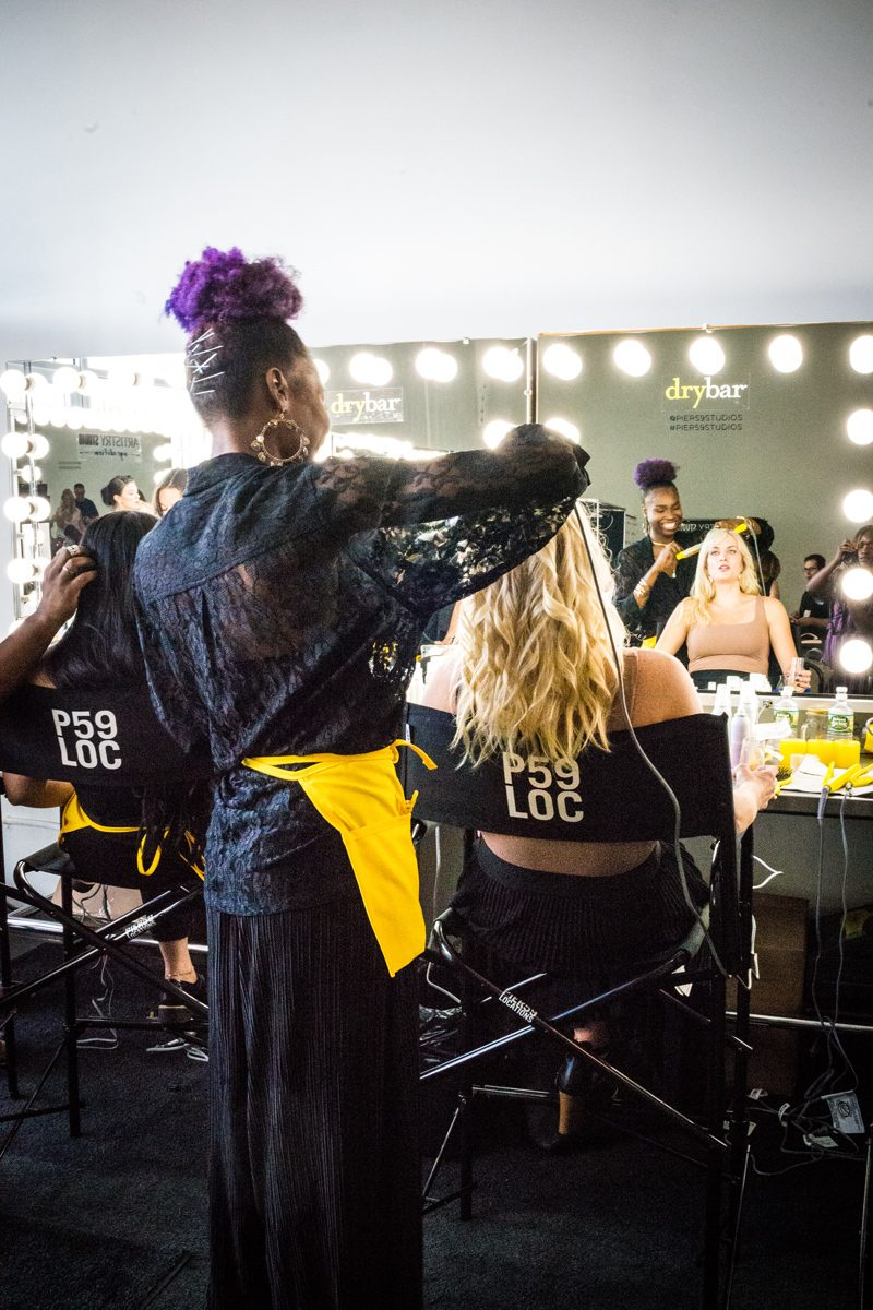 Backstage Pamella Roland SS19 with Drybar | NYFW Recap: Day 1 featured by popular Virginia fashion blogger Alicia Tenise