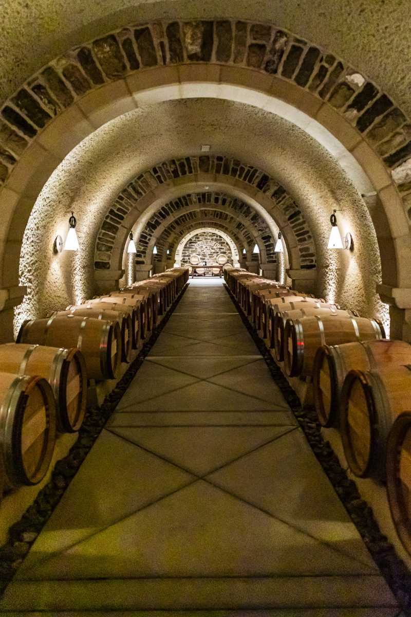 RdV Vineyards |Virginia Wineries by popular D.C. travel blogger, Alicia Tenise: image of a wine cellar.