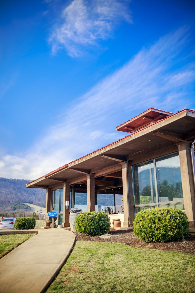 Afton Mountain Vineyards |Virginia Wineries by popular D.C. travel blogger, Alicia Tenise: image of Afton Mountain vineyard.