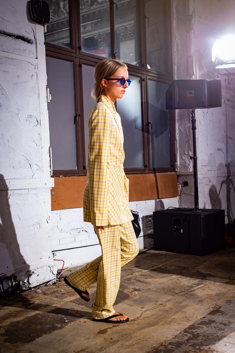 Tibi Plaid Suit Spring 2019
