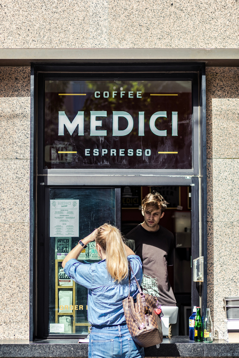 Medici in Austin | The Ultimate Guide of Things to Do in Austin TX featured by top Virginia travel blog Alicia Tenise | Things to do in Austin by popular LA travel blogger, Alicia Tenise: image of Medici coffee.