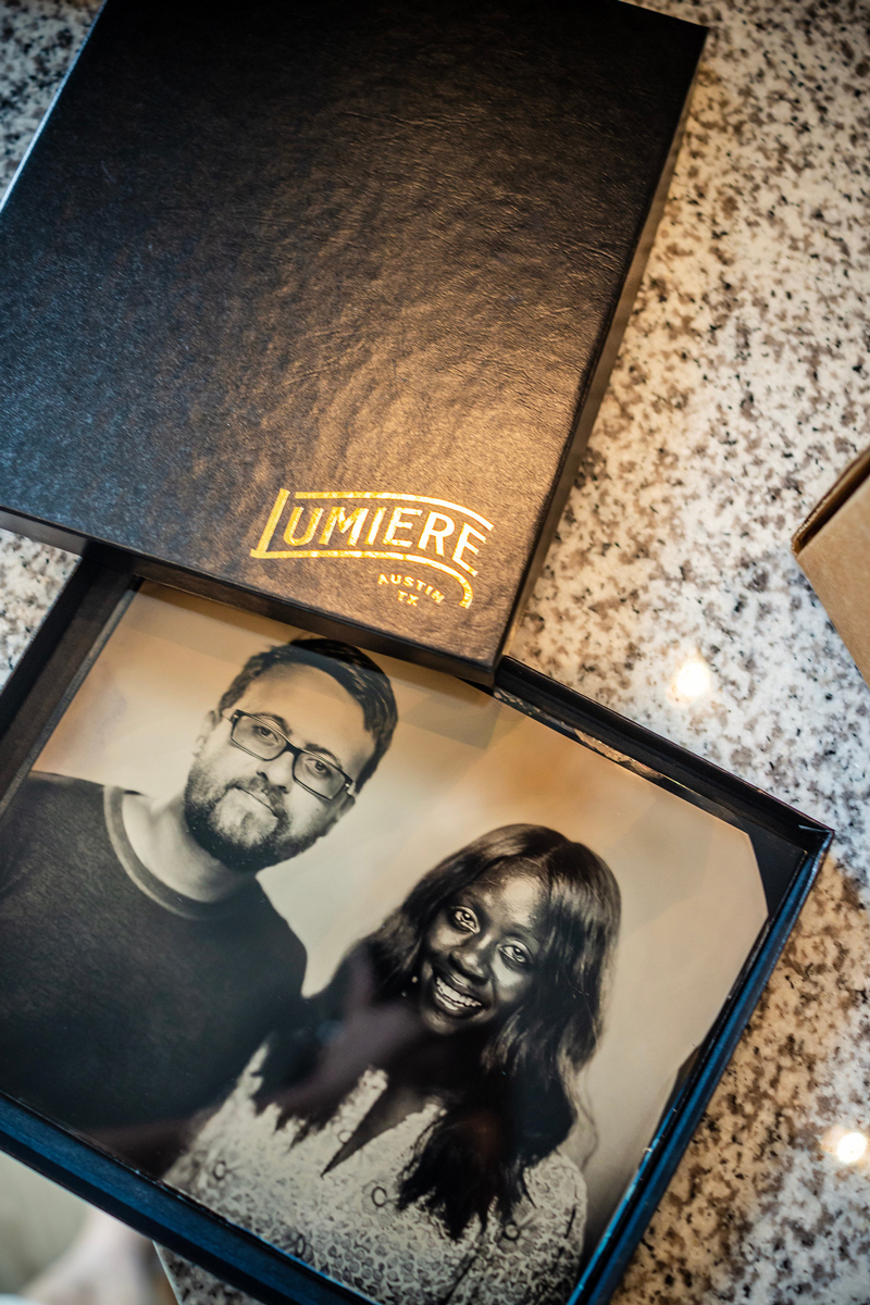 Lumiere Tintype Photography | The Ultimate Guide of Things to Do in Austin TX featured by top Virginia travel blog Alicia Tenise | Things to do in Austin by popular LA travel blogger, Alicia Tenise: image of a black and white photo of a couple.