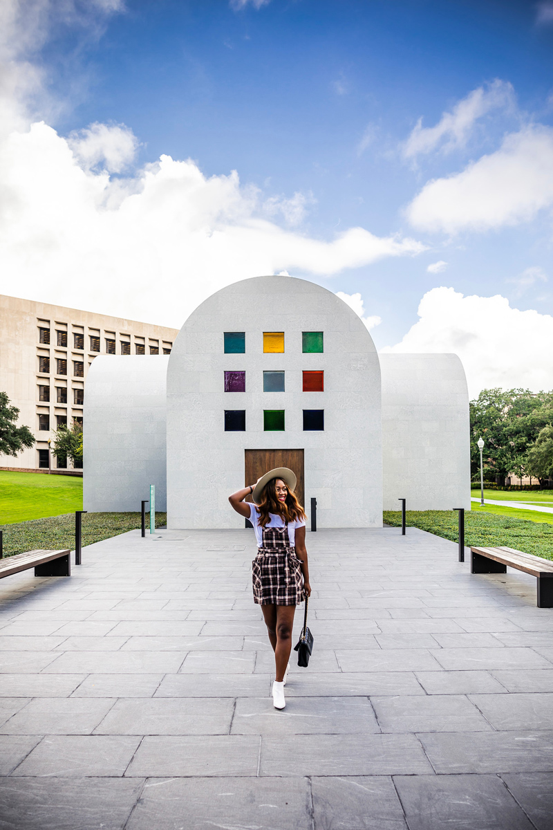 Blanton Museum of Art | The Ultimate Guide of Things to Do in Austin TX featured by top Virginia travel blog Alicia Tenise | Things to do in Austin by popular LA travel blogger, Alicia Tenise: image of Alicia Tenise at the Blanton Museum of Art.