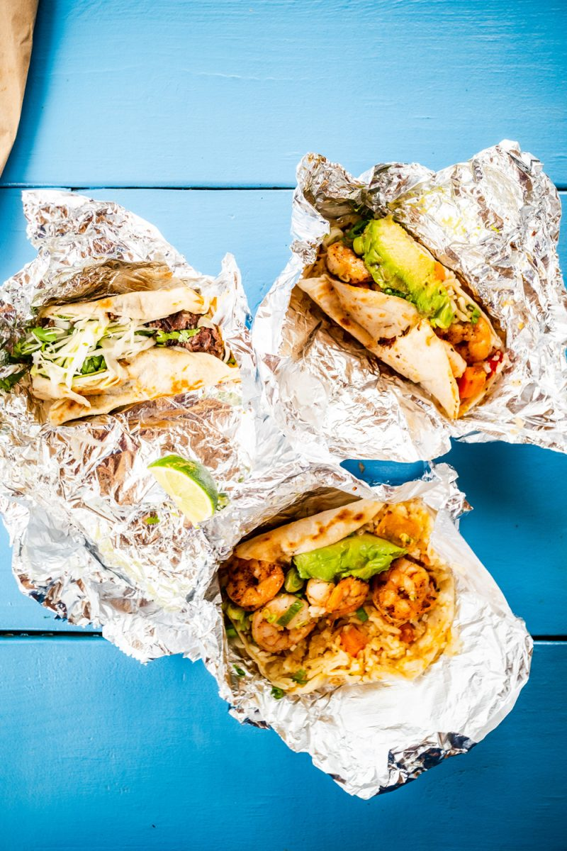 Fresca's Austin, Migas Tacos | Things to do in Austin by popular LA travel blogger, Alicia Tenise: image of some shrimp tacos.
