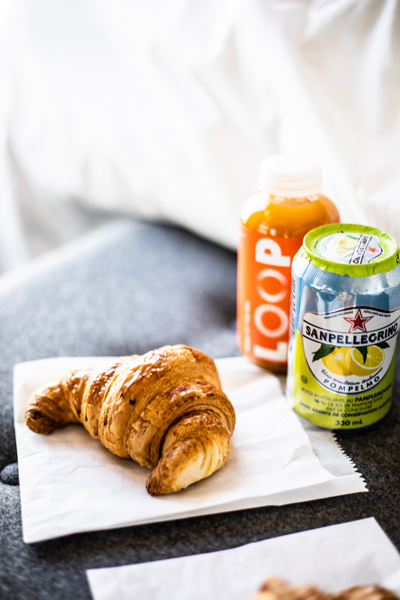 Breakfast at Hotel Monville Grab and Go Options | Where to Stay in Downtown Montreal: Hotel Monville featured by top Virginia travel blog Alicia Tenise
