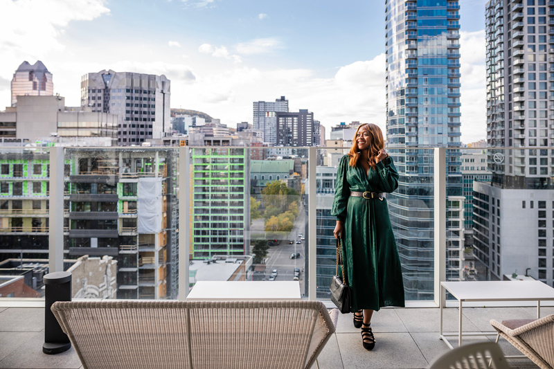 Rooftop at Hotel Monville | Where to Stay in Downtown Montreal: Hotel Monville featured by top Virginia travel blog Alicia Tenise
