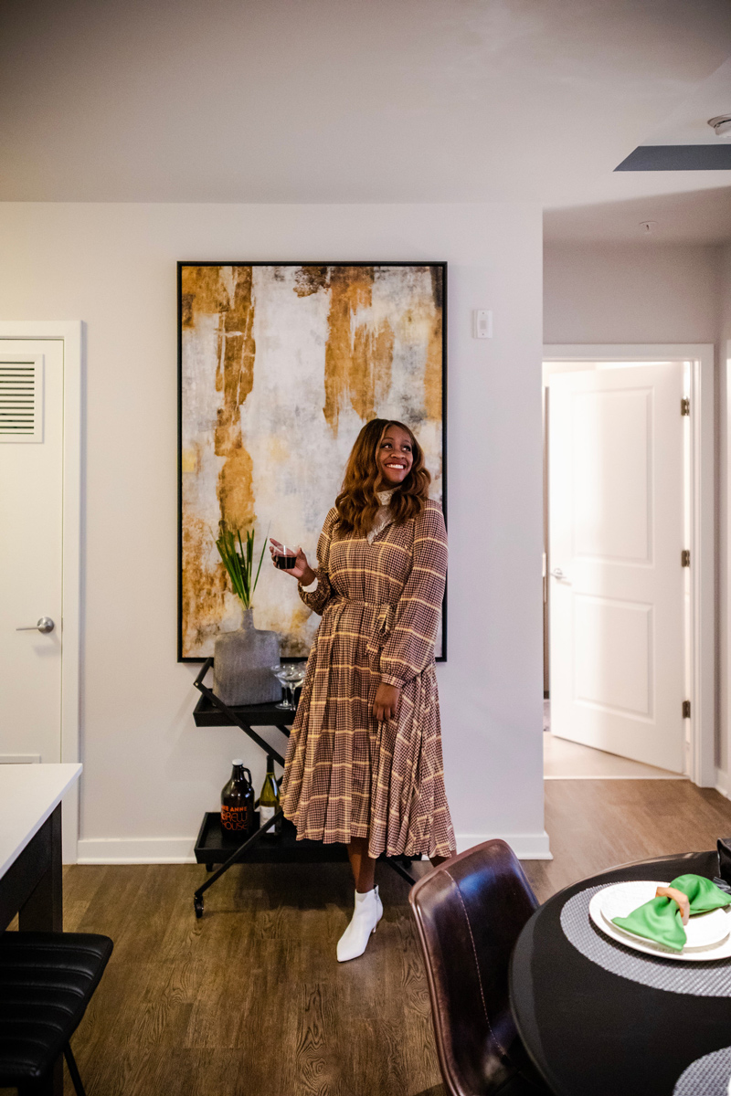 Affordable Plaid Dresses for Fall | Printed Pleated Midi Dress by & Other Stories | Why I've Been Living in Fall Midi Dresses This Season featured by top Virginia fashion blogger Alicia Tenise