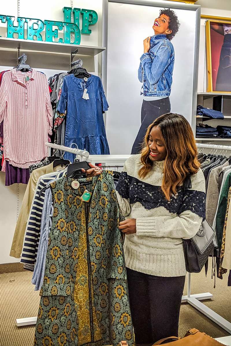 Blogger Alicia Tenise shares her finds at the Stage x ThredUp Pop Up - Why You Should Shop the Stage Stores x ThredUp Pop Up featured by Top DC fashion blogger, Alicia Tenise