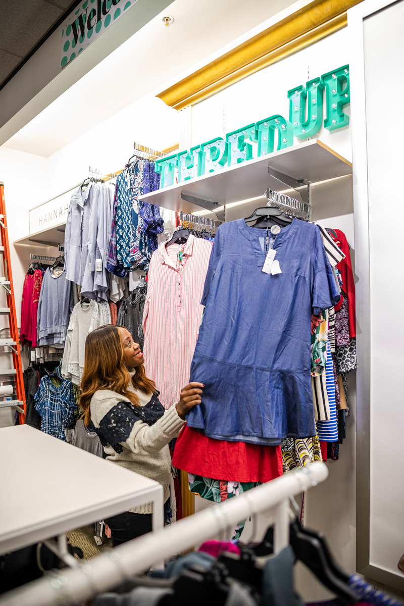 ThredUp Pop Up at Peebles in Warrenton VA - Why You Should Shop the Stage Stores x ThredUp Pop Up featured by Top DC fashion blogger, Alicia Tenise