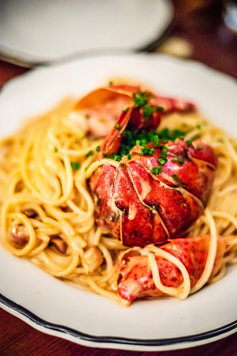 Joe Beef Lobster Spaghetti | The Ultimate Guide to Montreal featured by top Virginia travel blogger Alicia Tenise