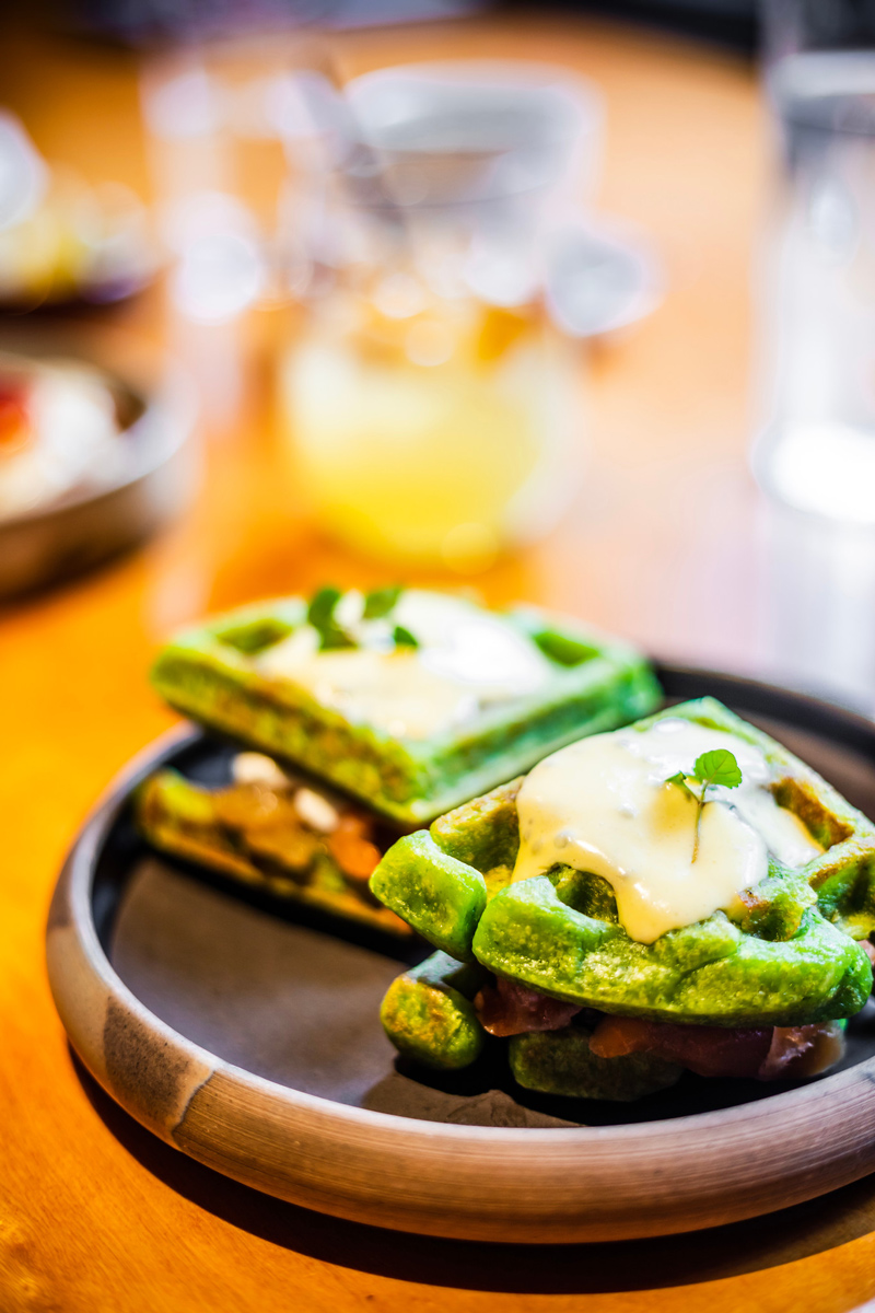 Ibéricos Taverne à Tapas Espagnoles Green Waffles Brunch | The Ultimate Guide to Montreal featured by top Virginia travel blogger Alicia Tenise