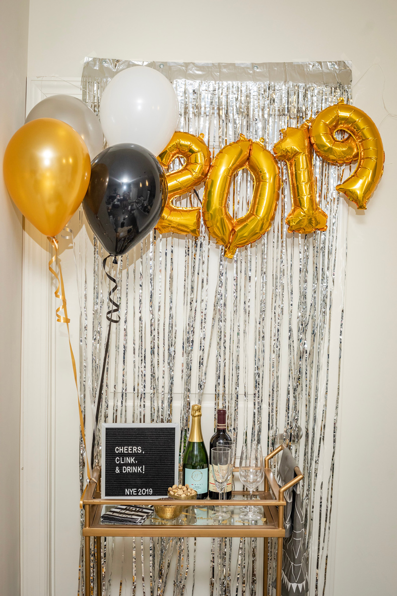 Target | IKEA | Pottery Barn | My New Year's Eve Bar Cart Ideas featured by top DC life and style blogger Alicia Tenise