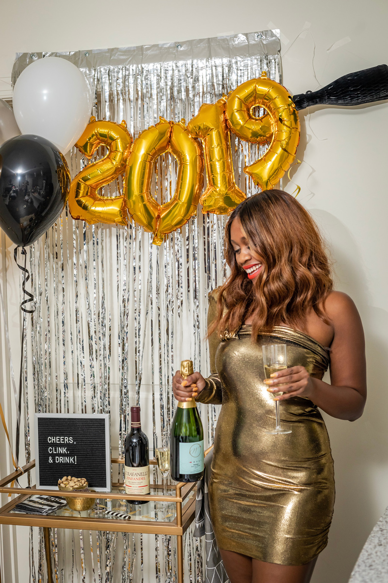 New Year's Eve 2019 Party Ideas | Target | IKEA | Pottery Barn | My New Year's Eve Bar Cart Ideas featured by top DC life and style blogger Alicia Tenise