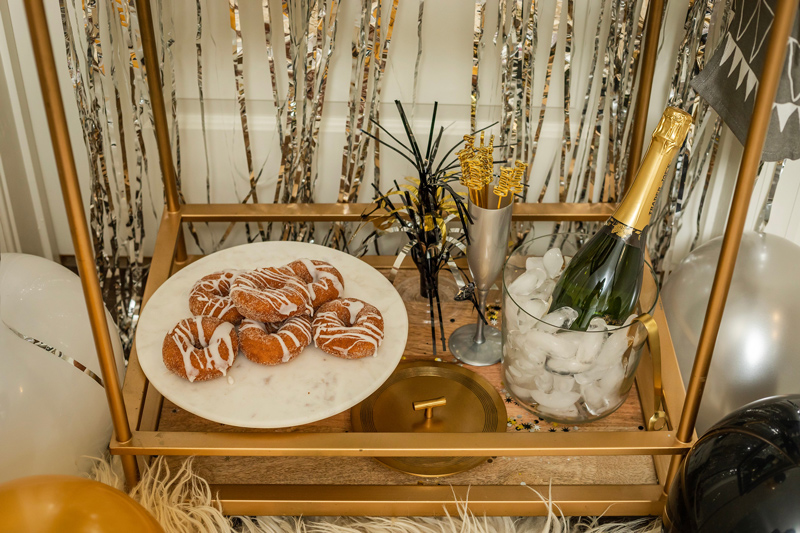 NYE Bar Cart Styling | Target | IKEA | Pottery Barn | My New Year's Eve Bar Cart Ideas featured by top DC life and style blogger Alicia Tenise