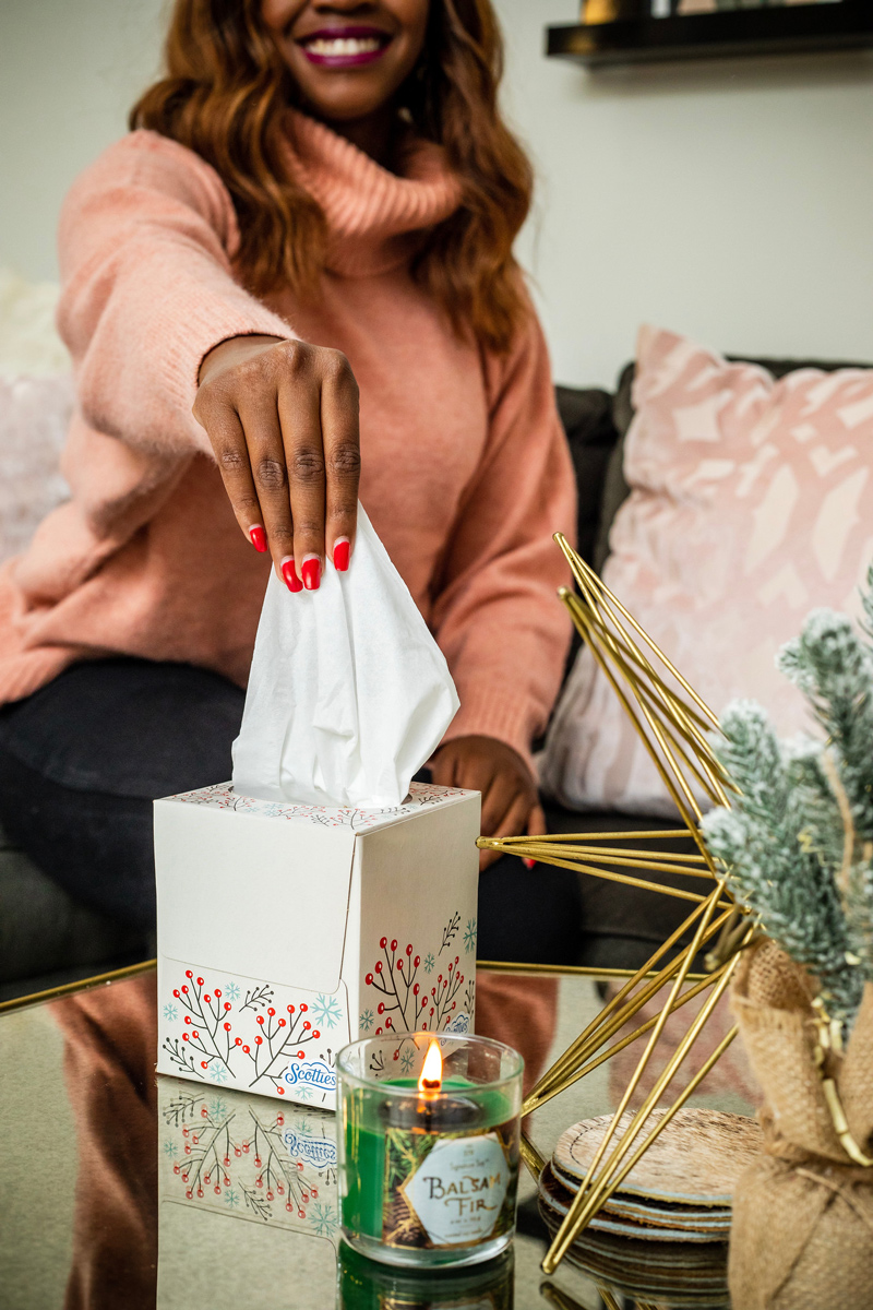 Scotties Tissues Holiday Box | Holiday Home Decor Tour with Scotties featured by top Washington DC blogger Alicia Tenise