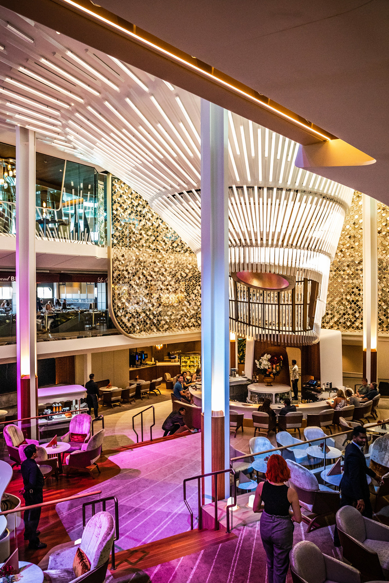 Martini Bar Celebrity Edge | Top DC Travel Blogger Alicia Tenise exclusively reviews the brand new Celebrity Edge cruise ship