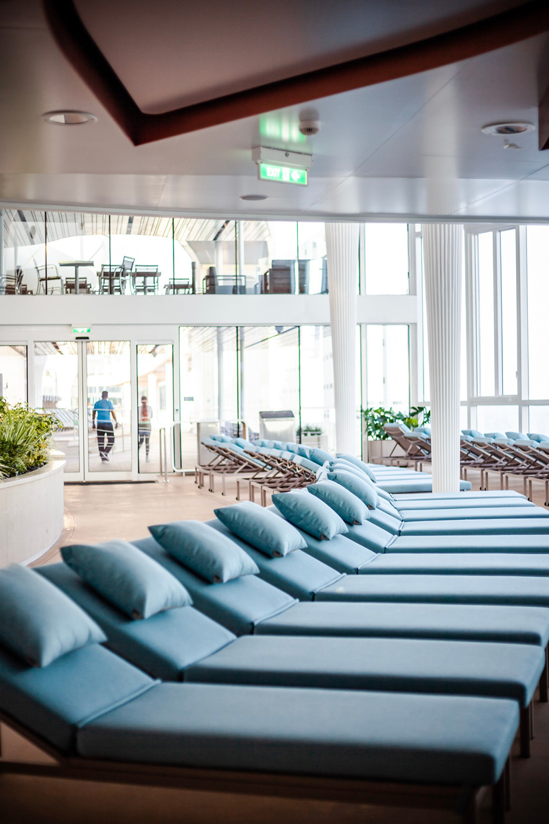 Solarium at the Celebrity Edge | Top DC Travel Blogger Alicia Tenise exclusively reviews the brand new Celebrity Edge cruise ship