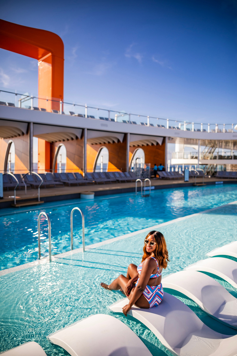 Pool at The Celebrity Edge   Top DC Travel Blogger Alicia Tenise exclusively reviews the brand new Celebrity Edge cruise ship