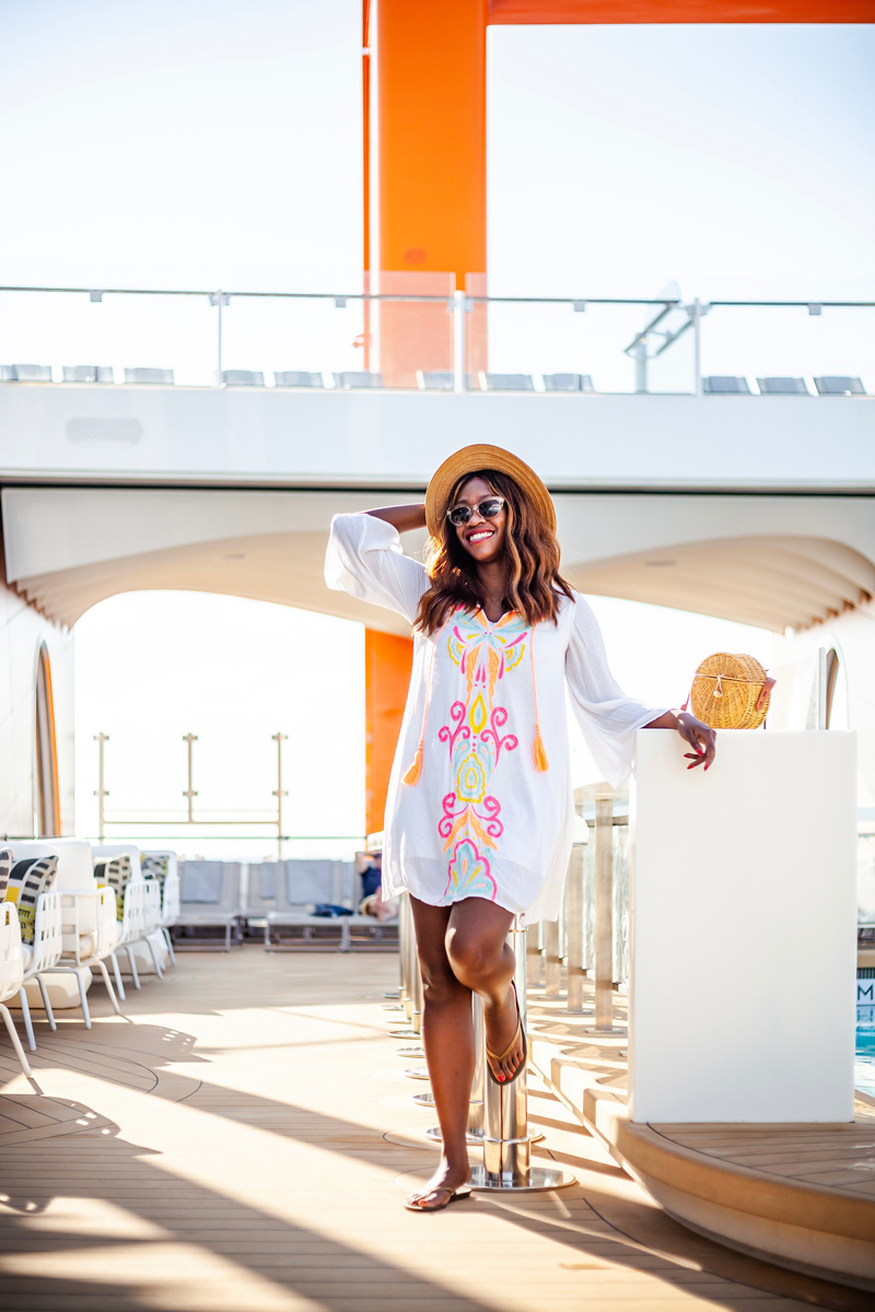 Lilly Pulitzer Cover Up   Top DC Travel Blogger Alicia Tenise exclusively reviews the brand new Celebrity Edge cruise ship