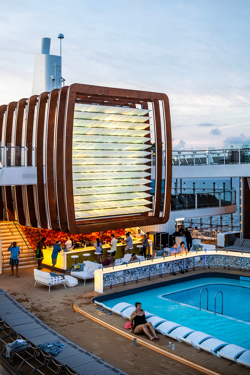 Celebrity Edge Pool Deck | Top DC Travel Blogger Alicia Tenise exclusively reviews the brand new Celebrity Edge cruise ship