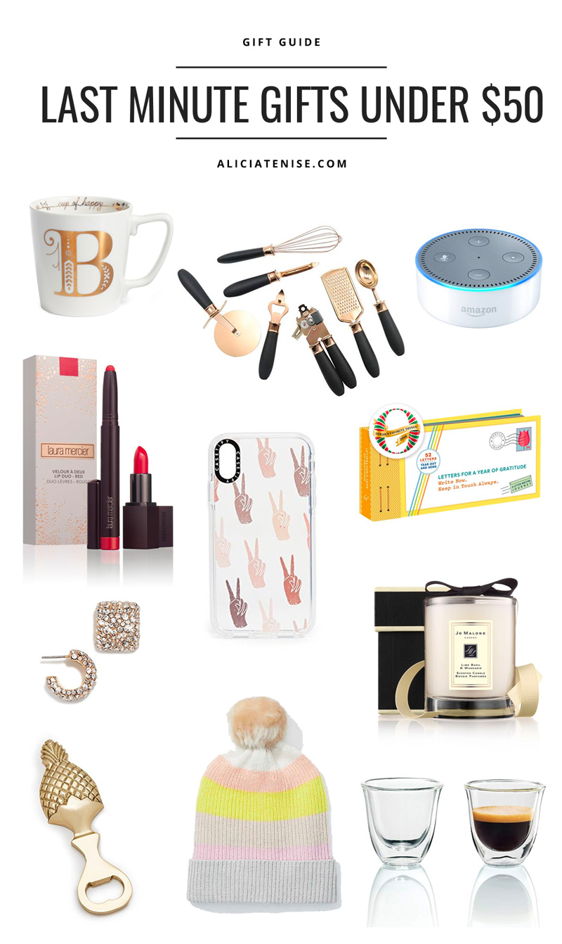 Last Minute Gift Ideas & Stocking Stuffers Under $50 featured by top DC life and style blog Alicia Tenise