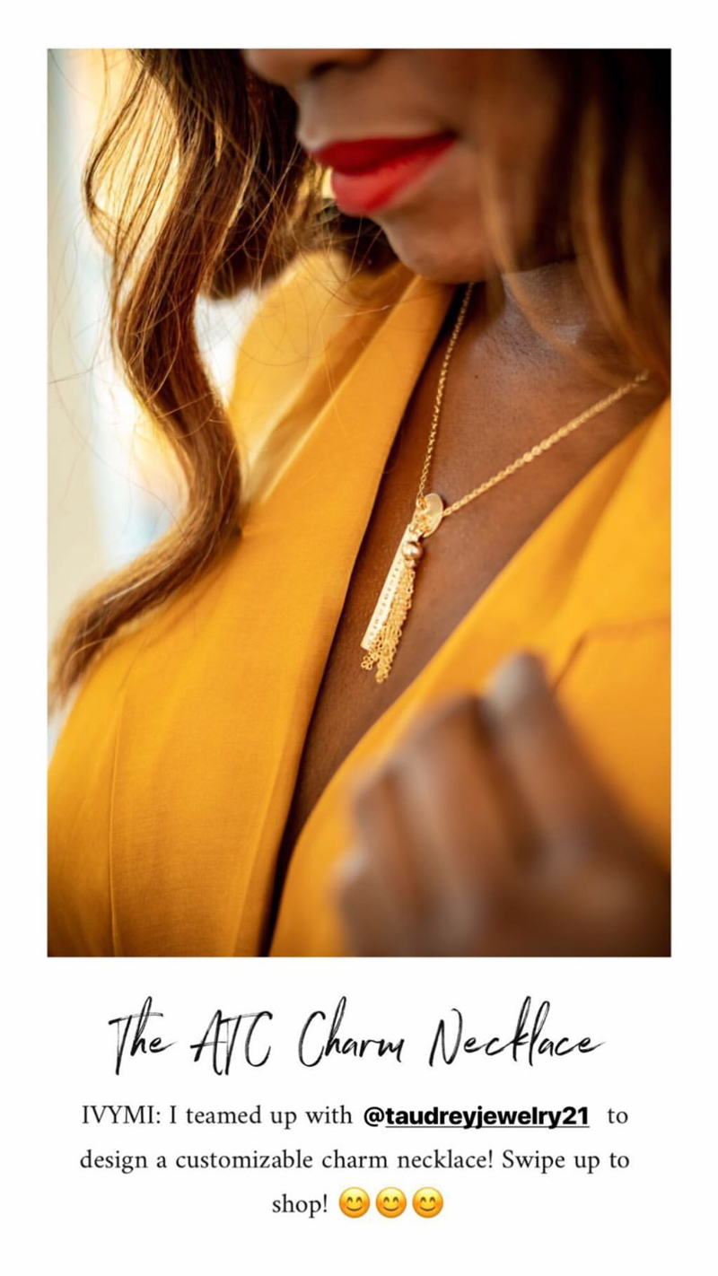 How to Create Better Looking IG Stories | Top 4 Best Apps for Instagram Stories featured by top DC blogger, Alicia Tenise: image of woman wearing the ATC charm necklace