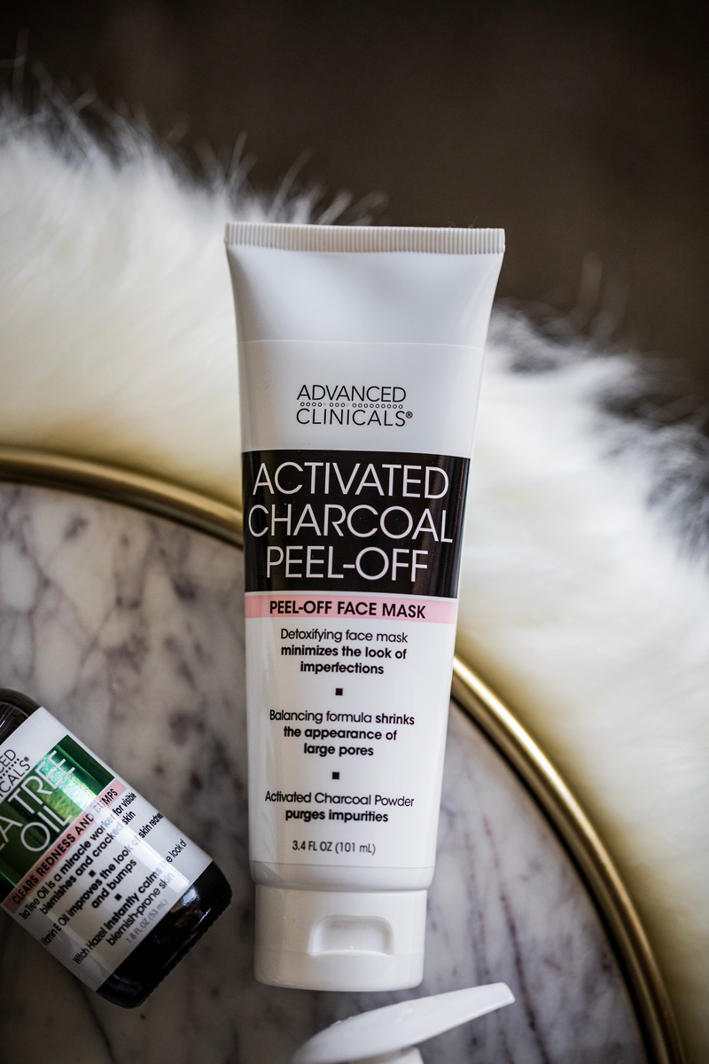 Advanced Clinicals Activated Charcoal Peel-Off Mask | Advanced Clinicals: the Affordable Skincare Line You Need to Try featured by top DC beauty blogger Alicia Tenise