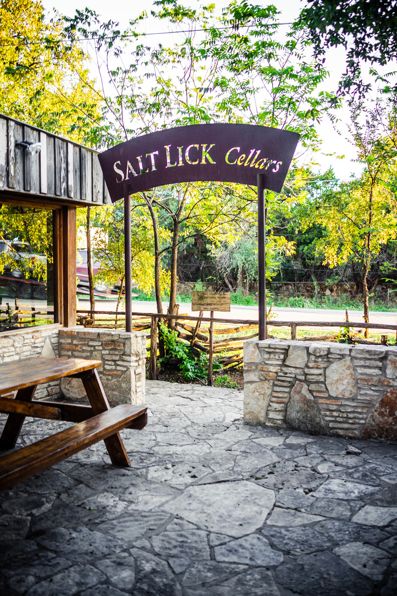 Salt Lick Cellars | The Best Wineries in Texas Hill Country featured by top US travel blogger, Alicia Tenise: Image at the Salt Lick Cellars