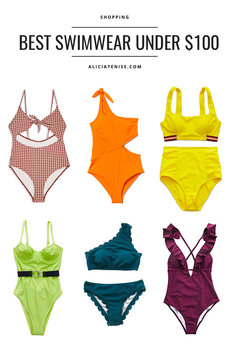 Swimsuits Under $100 featured by top US fashion blogger Alicia Tenise