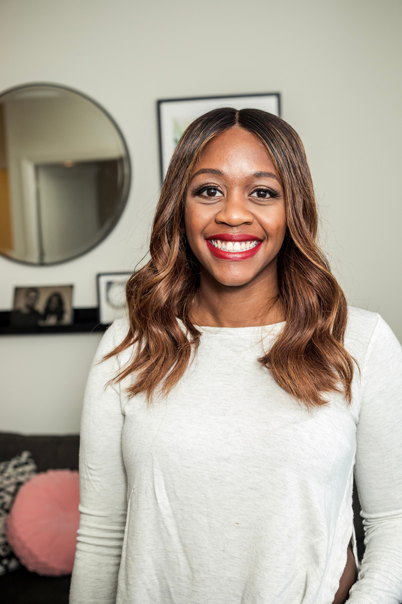 Lipsticks for Dark Skin Tones featured by top US beauty blogger Alicia Tenise; Image of a woman wearing Bobbi Brown Burnt Cherry.