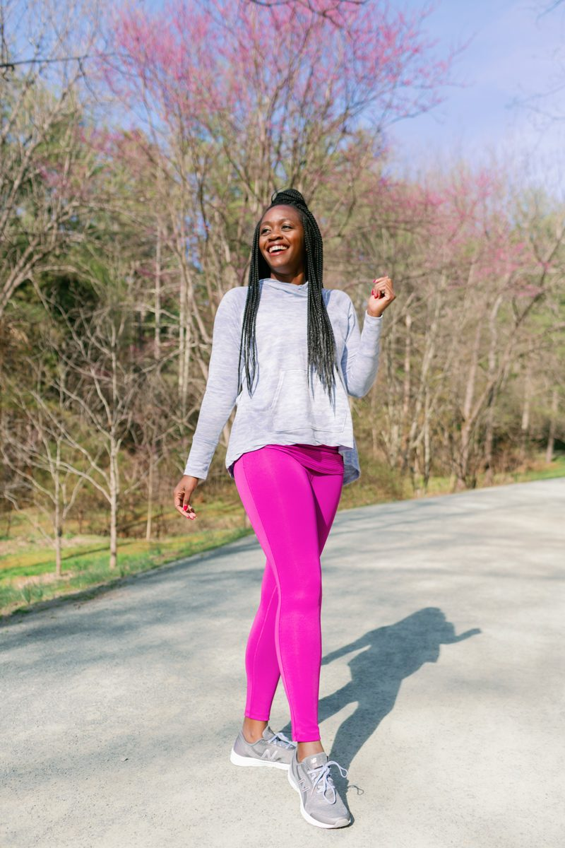 TRIM Bootcamp featured by top US life and style blogger Alicia Tenise; Image of a woman wearing New Balance x Isaac Mizrahi Live! Collection.