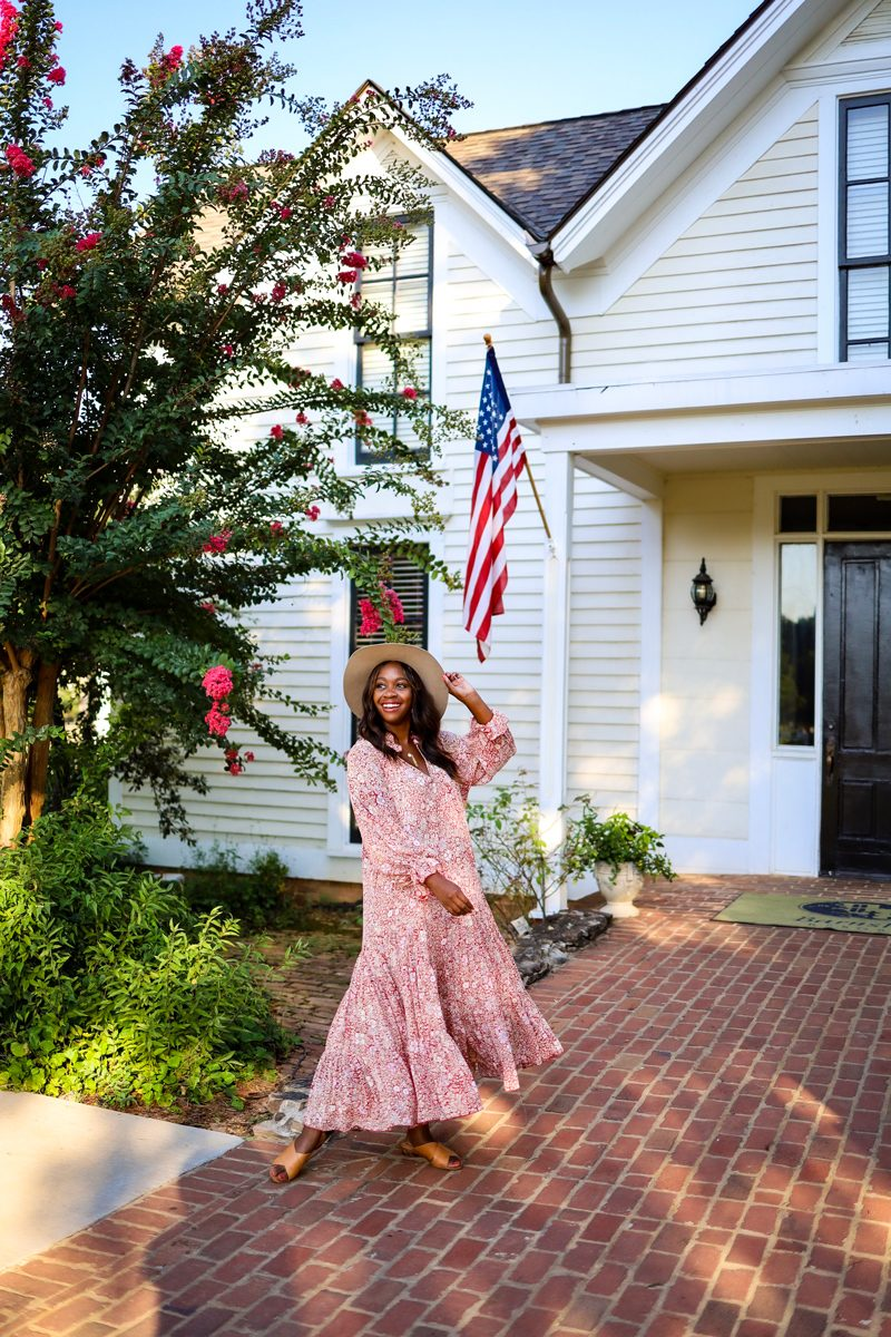 Shopbop Sale featured by top Washington D.C. fashion blogger Alicia Tenise; Image of a woman wearing the Free People Feeling Groovy Maxi Dress