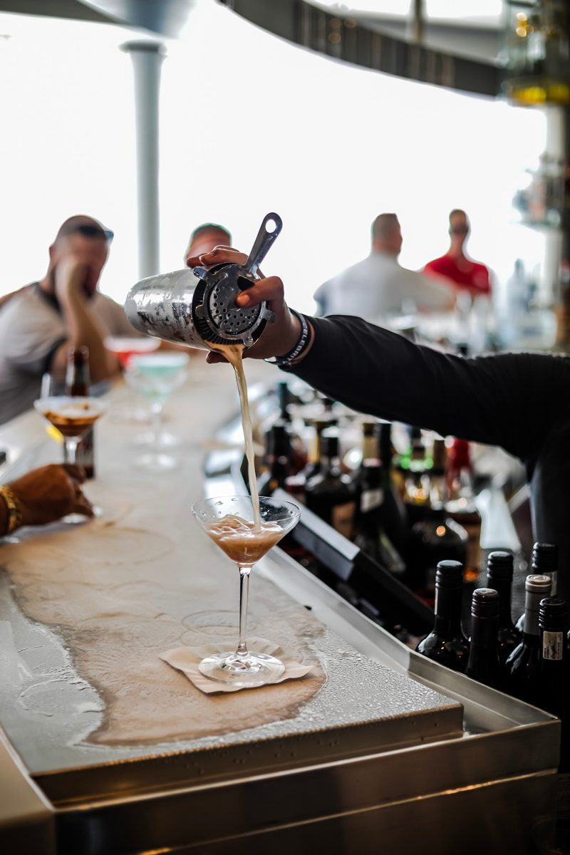 New Celebrity Summit review featured by top US travel blogger, Alicia Tenise: image of Martini Bar on Celebrity Summit