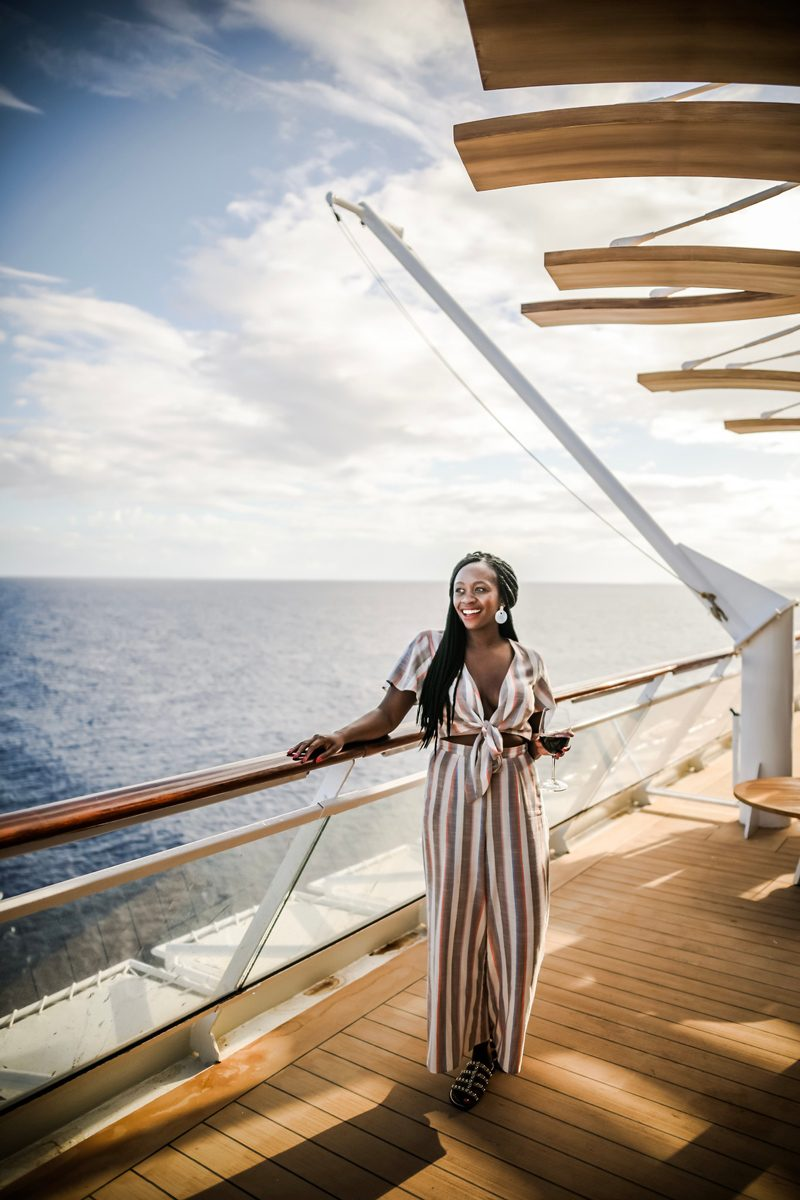 New Celebrity Summit review featured by top US travel blogger, Alicia Tenise: image of Sunset Bar Celebrity Summit