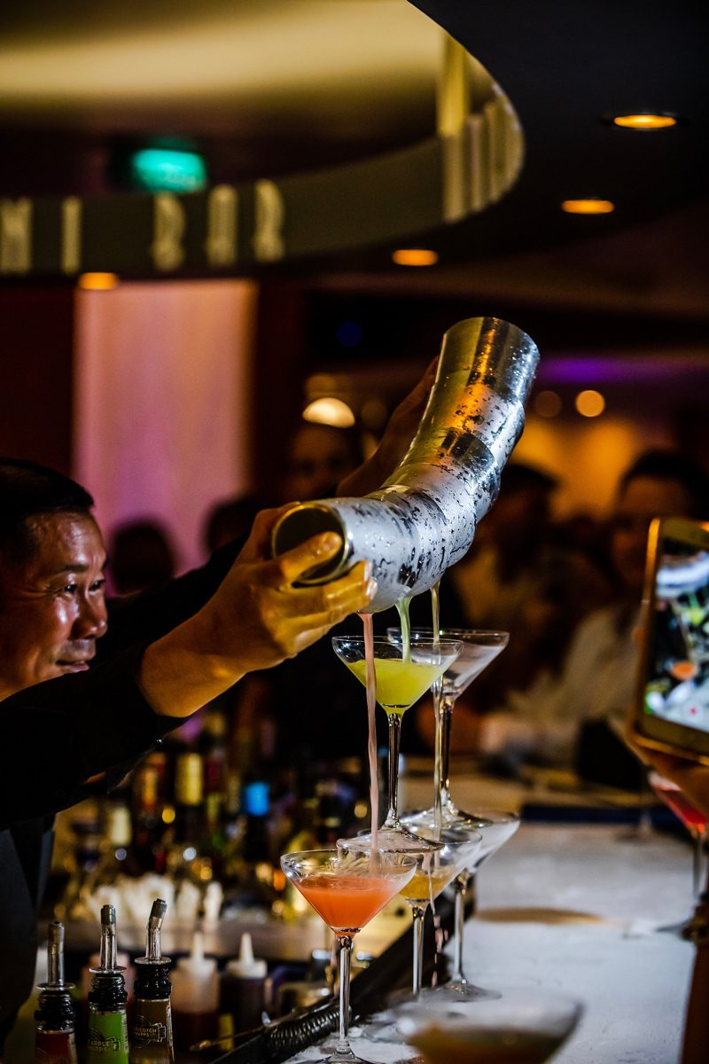 New Celebrity Summit review featured by top US travel blogger, Alicia Tenise: image of The Martini Bar Celebrity Summit
