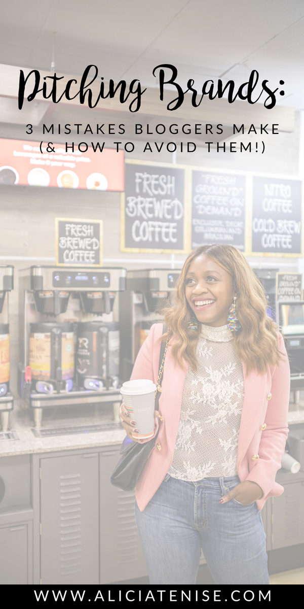Blogging Mistakes featured by top US blogger Alicia Tenise; Image of a woman at a coffee shop.