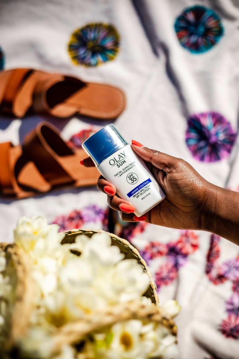 How to spend the perfect Memorial Day Weekend staycation featured by top US travel blogger, Alicia Tenise: image of OLAY sun sunscreen