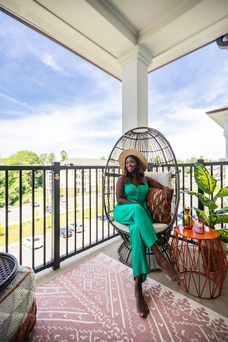 Balcony Decorating Ideas featured by top US life and style blogger Alicia Tenise