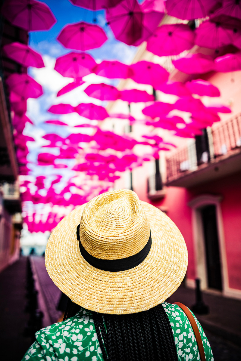 Umbrella Street in Old San Juan