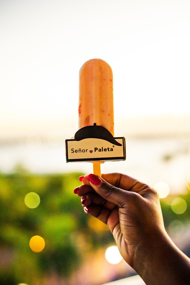 48 Hours in Old San Juan: A Travel Guide by popular Washington D.C. travel blogger, Alicia Tenise: image of a Señor Paleta