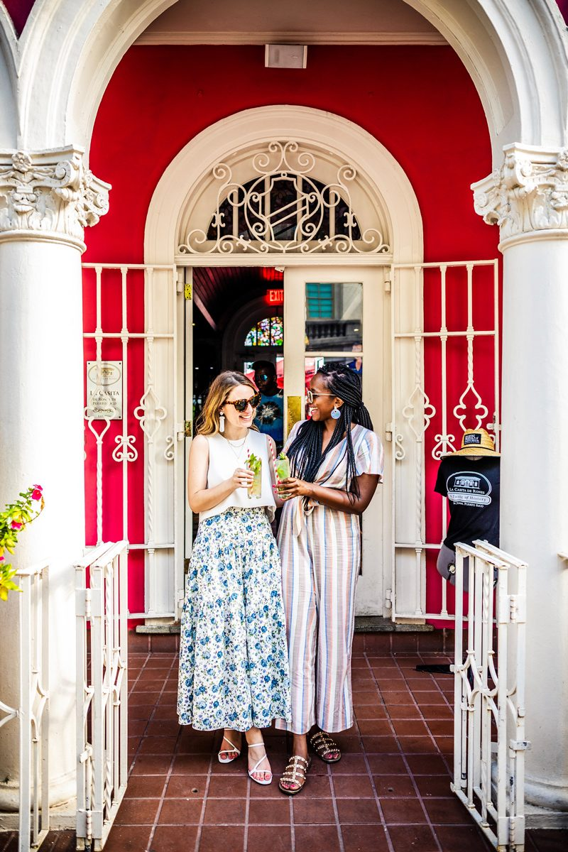 48 Hours in Old San Juan: A Travel Guide by popular Washington D.C. travel blogger, Alicia Tenise: image of Bloggers Alicia Tenise and Kerrie M Burke in Old San Juan Puerto Rico