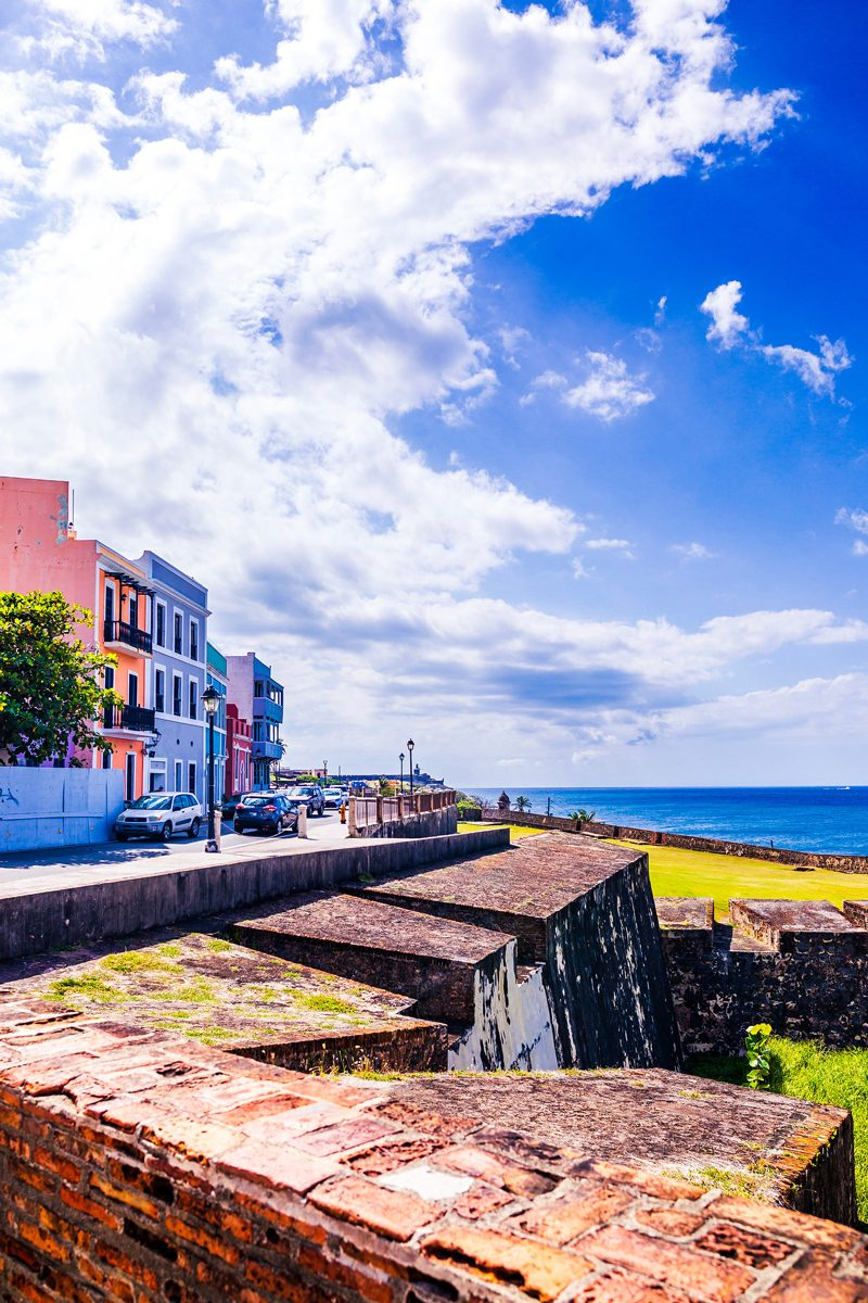 48 Hours in Old San Juan: A Travel Guide by popular Washington D.C. travel blogger, Alicia Tenise: image of Old San Juan coastline.