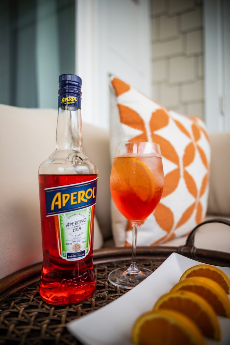 Aperol Spritz Recipe | The Perfect End of Summer Cocktail: The Aperol Spritz by popular Washington D.C. life and style blogger, Alicia Tenise: image of a Aperol Spritz cocktail.