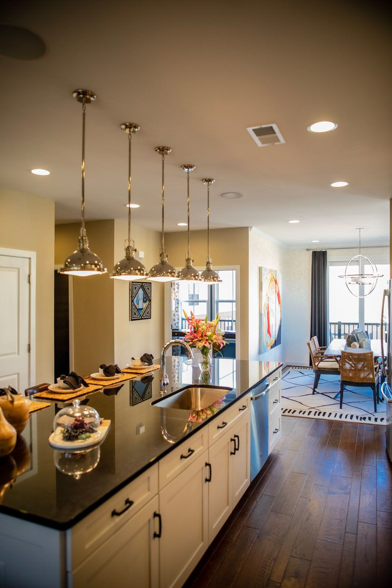 Brambleton VA: The Tech-Savvy Town That Needs to Be On Your Radar by popular life and style blogger, Alicia Tenise: image of a kitchen in a townhouse.